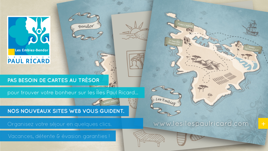 Promotion des nouveaux sites web des Iles Paul Ricard