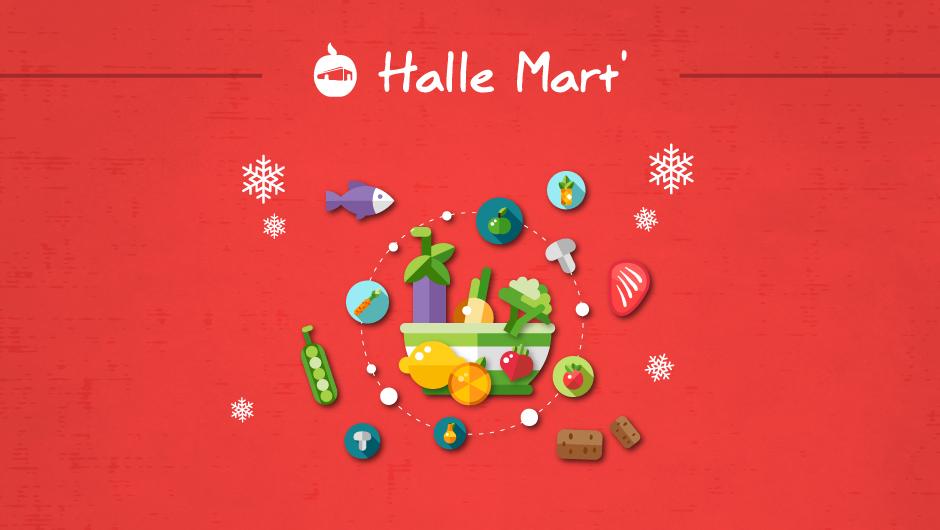 Affiche du Marché éphémère – Halle Mart'